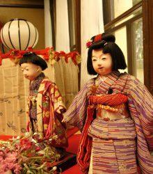稚児輪市松人形・蝶々髷雛人形